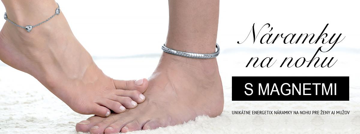 Náramky na nohu s magnetmi