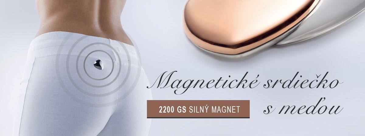 Magnetické srdiečko s meďou